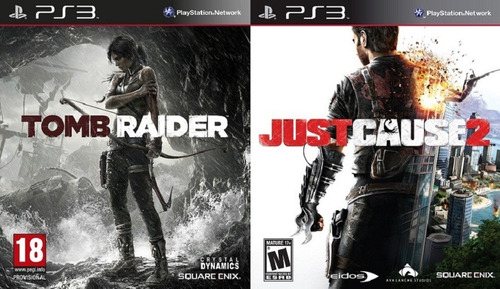 tomb raider + just cause 2 ps3