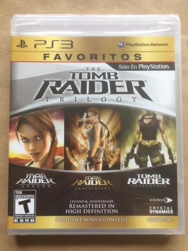 tomb raider trilogia ps3. nuevo sellado. envíos