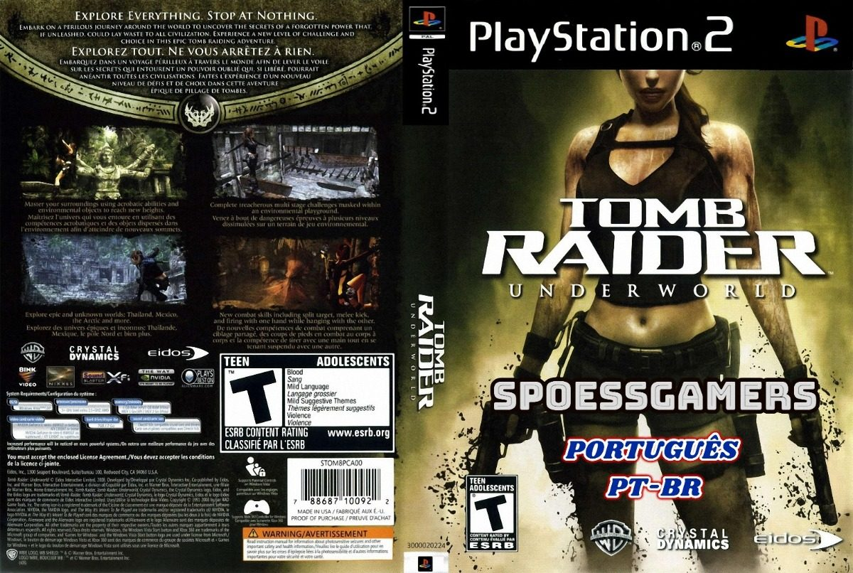 tomb raider underworld ps2 capa