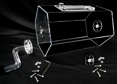 tombola de acrilico, podium, capelo, impresion, corte laser