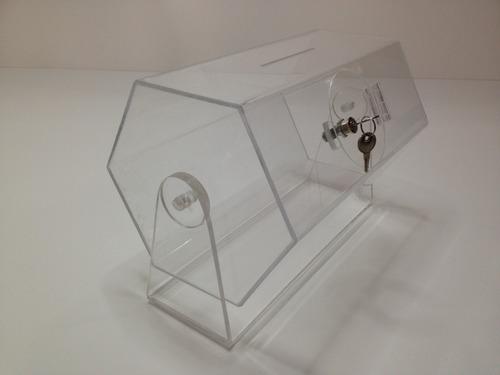 tombola de acrílico urna de votos para rifas y sorteos