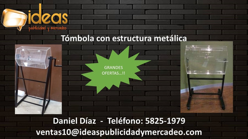 tombolo con base metalica