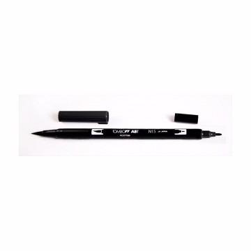 tombow - caneta / pincel artística dual brush cor preta
