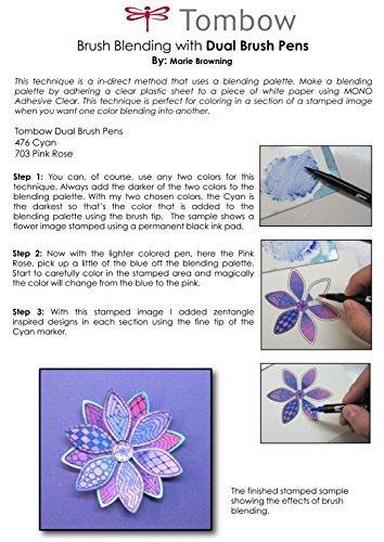 tombow dual brush art pen marcadores, azul pavo real 533, 6