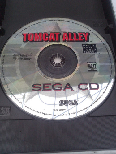tomcat alley para sega cd