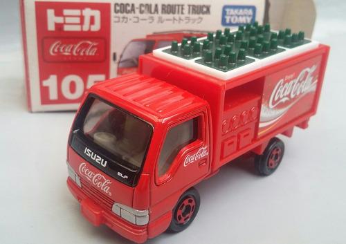tomica isuzu truck coca cola no105