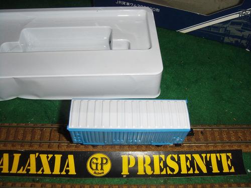 tomix escala n - vagão box azul
