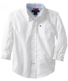 nuevo producto beb5c e1ec5 Tommy Hilfiger Baby Boys 'camisa Clásica, Blanco, 24 Mese