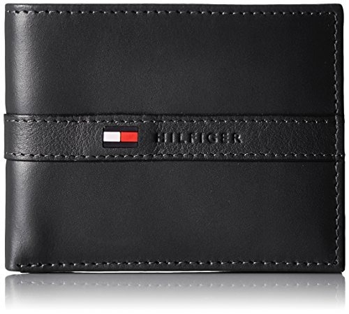 tommy hilfiger billetera para hombre color negro