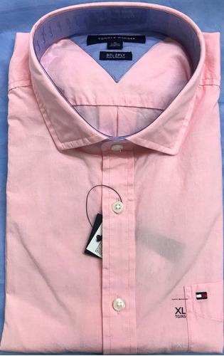 tommy hilfiger camisa manga larga 100% original talla xl
