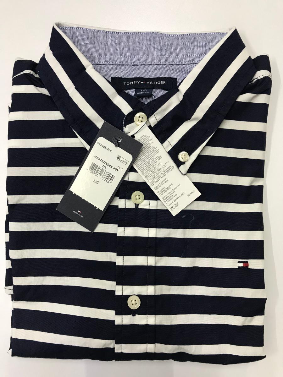51ef7464a66b Tommy Hilfiger Camiseta Rayas 100% Original Talla L
