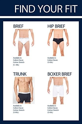 tommy hilfiger hombres 4 pack boxer breve, gris/azul marino,