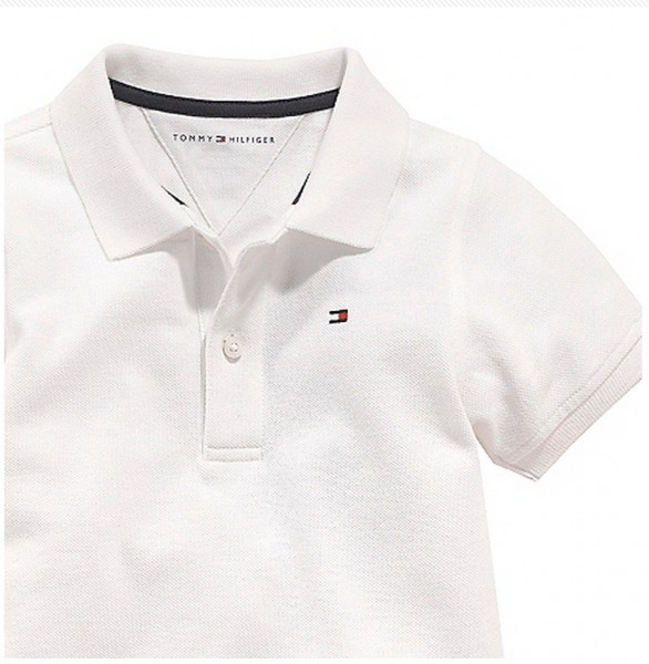 7f8be97e0d Tommy Hilfiger Infantil Camisa Polo Classic Knit Branca!!! - R  119 ...