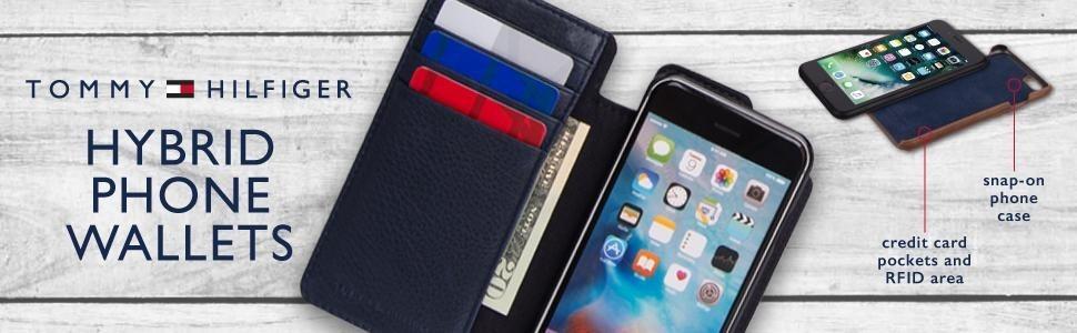 274cc73f70f tommy hilfiger iphone 6 6s carcasa y cartera piel funda rfid. Cargando zoom.