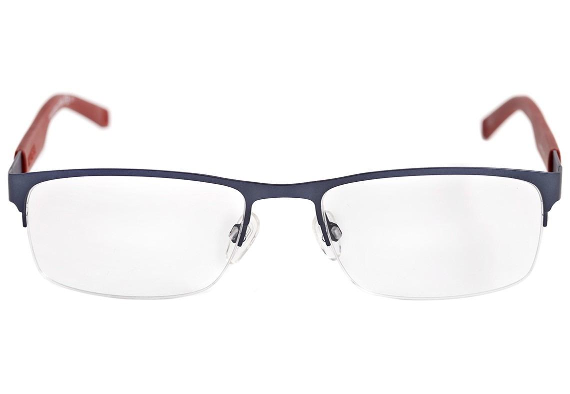 2315a67a33db9 Tommy Hilfiger Th 1447 - Óculos De Grau Ll0 Azul E Vermelho - R  499 ...