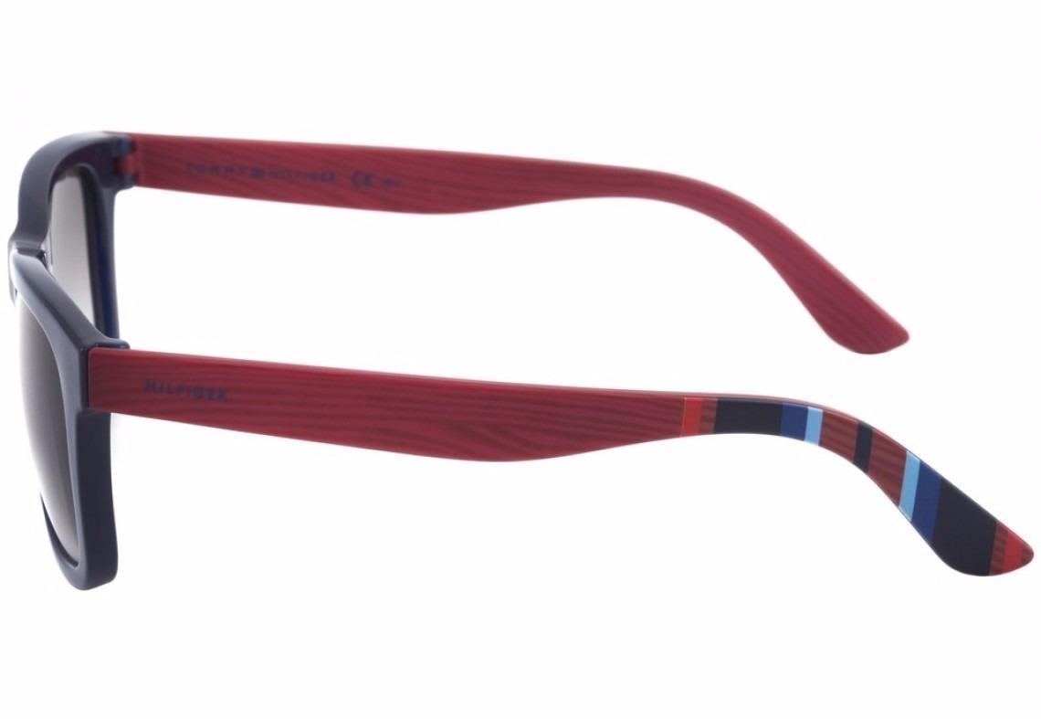 9fcdfaf084e08 Carregando zoom... óculos de sol tommy hilfiger th 1313s azul e vermelho -  51eu