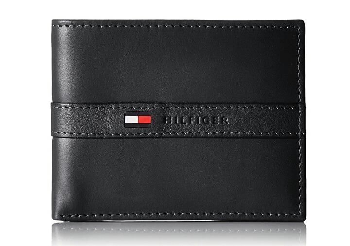 da3ecf611c7 Tommy Hilfiger Original 100% Cuero Billetera Negra Hombre -   112.700 en  Mercado Libre
