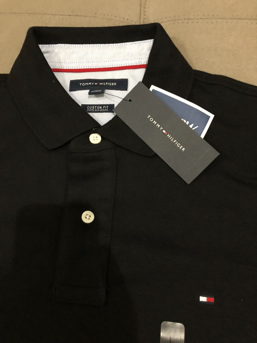 tommy hilfiger original camisa polo masculina - preta. Carregando zoom. 1f261de74c720
