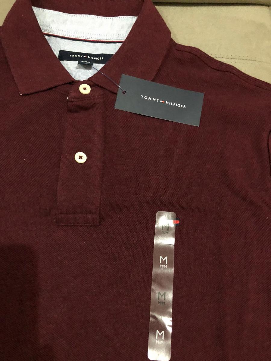 9bf686bbab ... tommy hilfiger original camisa polo masculina purpura vinho. Carregando  zoom. ac454556d15ada ...