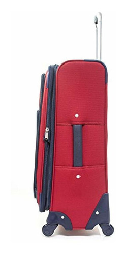 tommy hilfiger signature solid 24'' expandable spinner, red