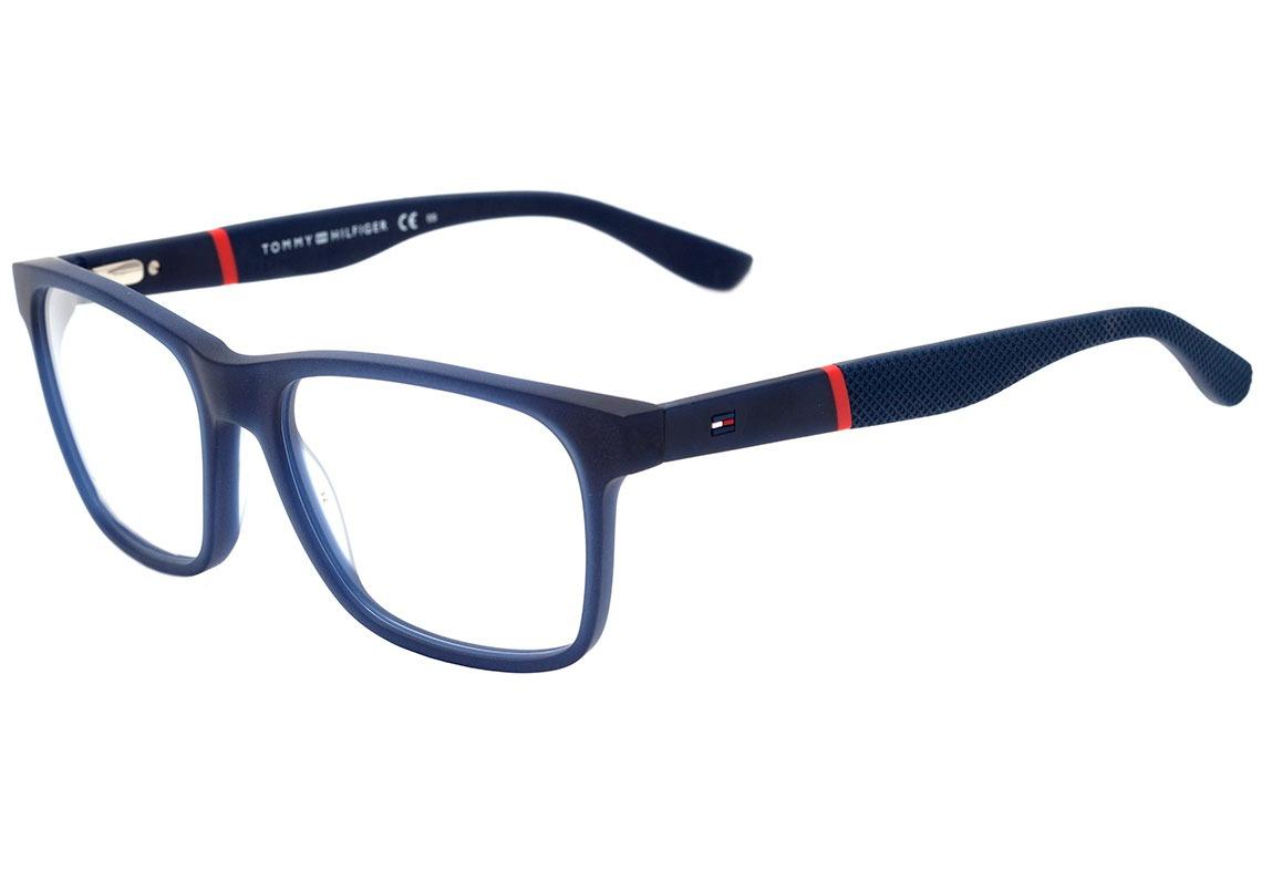 3b81131532f71 Tommy Hilfiger Th 1282 - Óculos De Grau 6z1 17 Azul Fosco - - R  459 ...