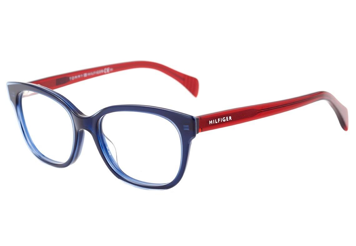 61df9eb52067d Tommy Hilfiger Th 1439 - Óculos De Grau L0j Azul E Vermelho - R  459 ...