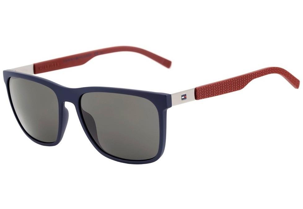 16e2f4d45 tommy hilfiger th 1445 s - óculos de sol lcn nr azul e. Carregando zoom.