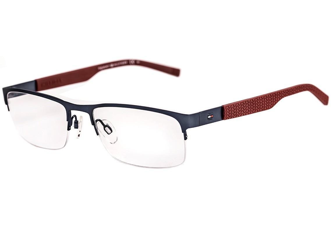 4691d77e64aae tommy hilfiger th 1447 - óculos de grau ll0 azul e vermelho. Carregando  zoom.