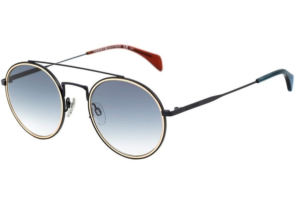 9095bcd25a08f tommy hilfiger th 1455 s - óculos de sol bqz 08 azul fosco. Carregando zoom.