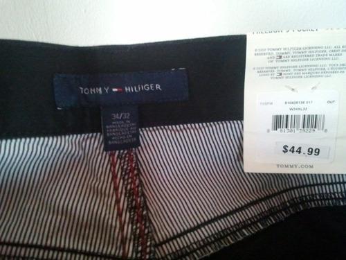 tommy pantalon  vestir casual  negro talla 33,34x32 cod 257