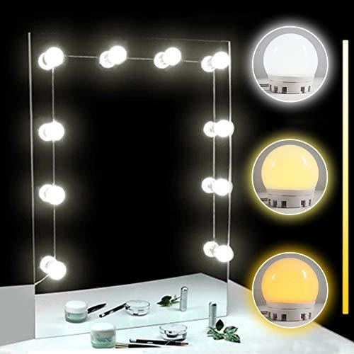 tomnew llevó tocador luces espejo kit, 10 ajustables espej