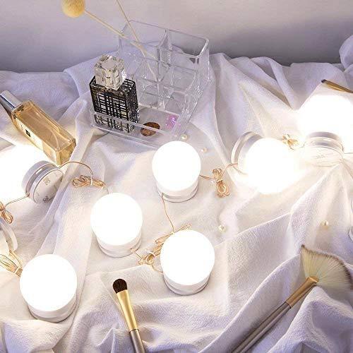 tomshine llevó luces espejo tocador kit, hollywood bombill