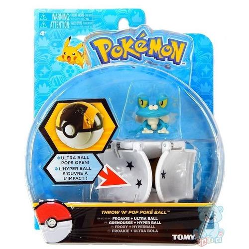tomy pokemon throw and pop froakie ultra ball pokemon
