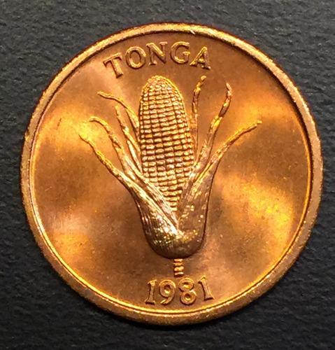 ton002 moneda tonga 1 seniti 1981 unc-bu ayff