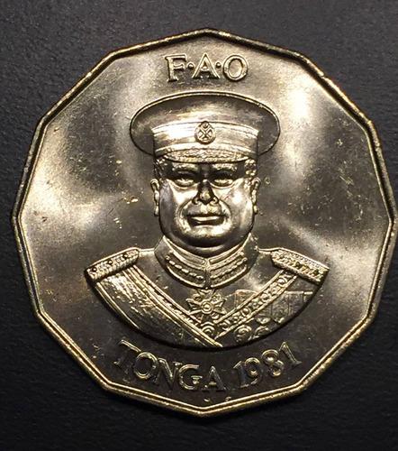 ton012 moneda tonga 50 seniti 1981 unc-bu ayff