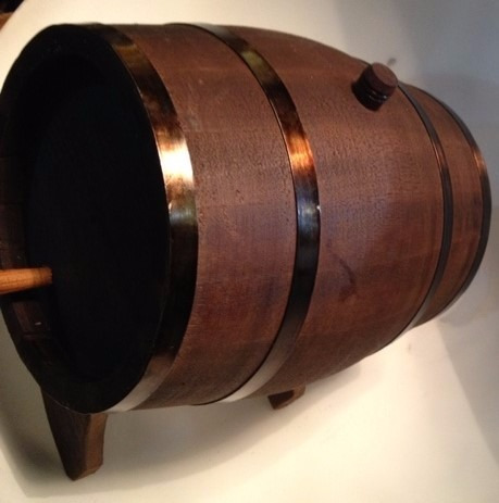 tonel | barril | de carvalho europeu 5 litros + fretegratis