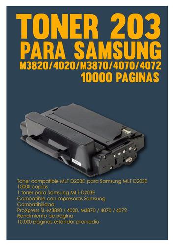 toner 203 para samsung m3820/4020/m3870/4070/4072 10000pagi