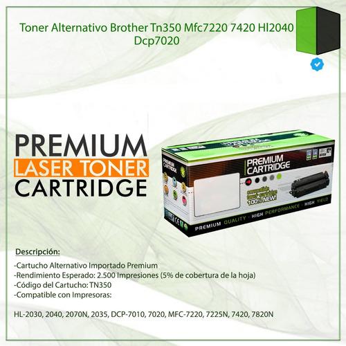toner alternativo brother tn350 mfc7220 7420 hl2040 dcp7020