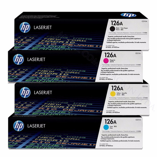 toner alternativo hp cp1025nw 1025w 126a ce310 311 312 313