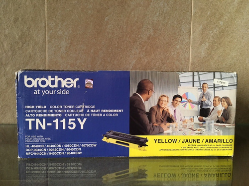 toner brother mod tn-115y amarillo original alto rendimiento