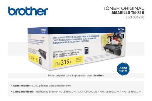 toner brother tn 319 amarillo orig. hl 8350 8850 districomp