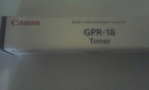 toner canon gpr 18 original sellado
