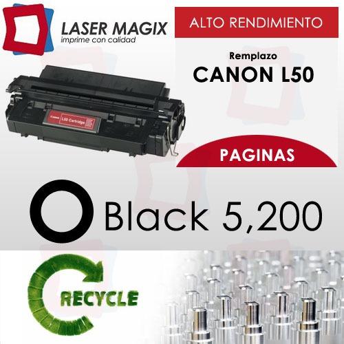toner canon l-50 remanufacturado rendimiento 5200 paginas