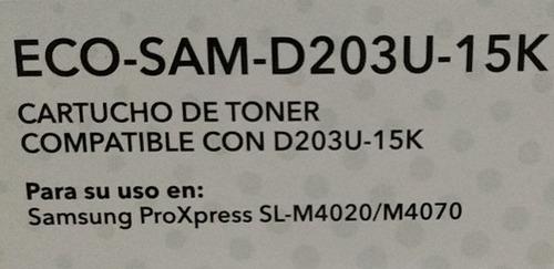 toner comp ecolaser d203u 15k samsung ml-3820 / 4020 / 4070