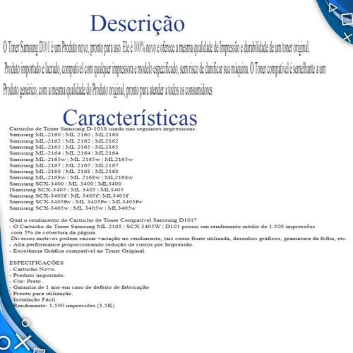 toner  d101 ml2160 ml2161 ml2165 scx3400 scx3401 scx3405
