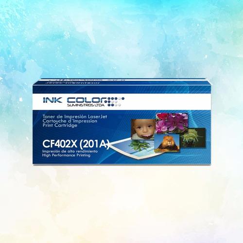 toner  genérico color cf402x (201a)