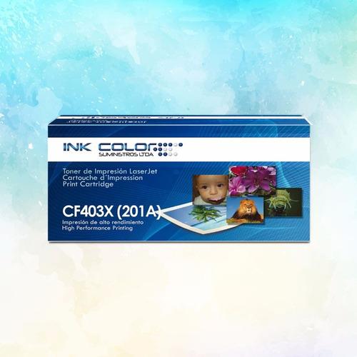 toner  genérico color cf403x (201a)