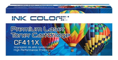 toner generico ink color cf411x cyan laserjet pro m452/ m477