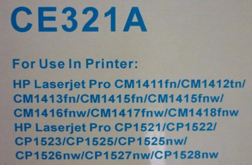toner genérico para hp color ce320a-ce321a-ce322a-ce323a