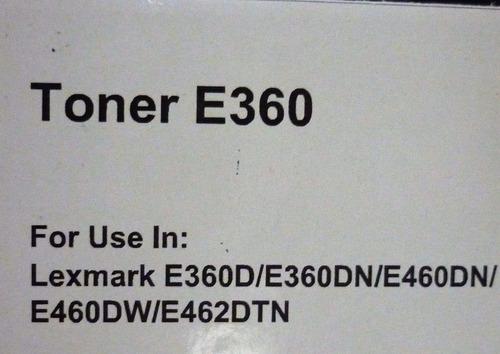 toner genérico para lexmark  e360 suministros fauca